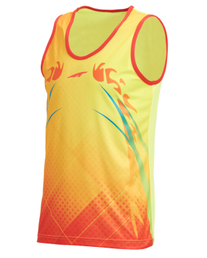 Unisport Jogging Shirt J-6747 YELLOW+RED